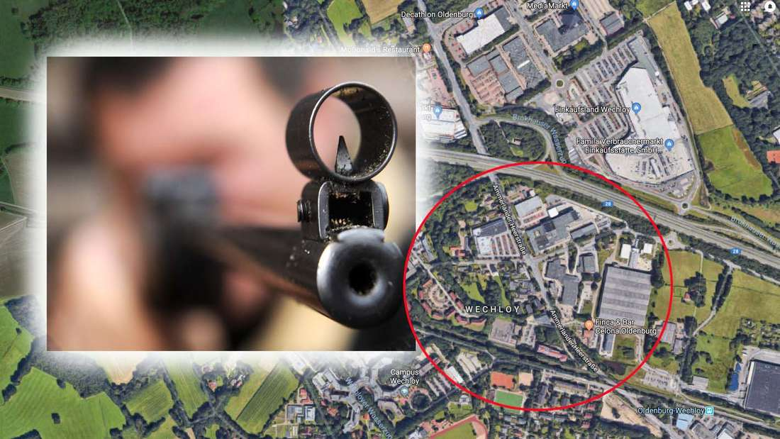 In Oldenburg warteten zwei Männer an einer Bushaltestelle, als plötzlich auf sie geschossen wurde.