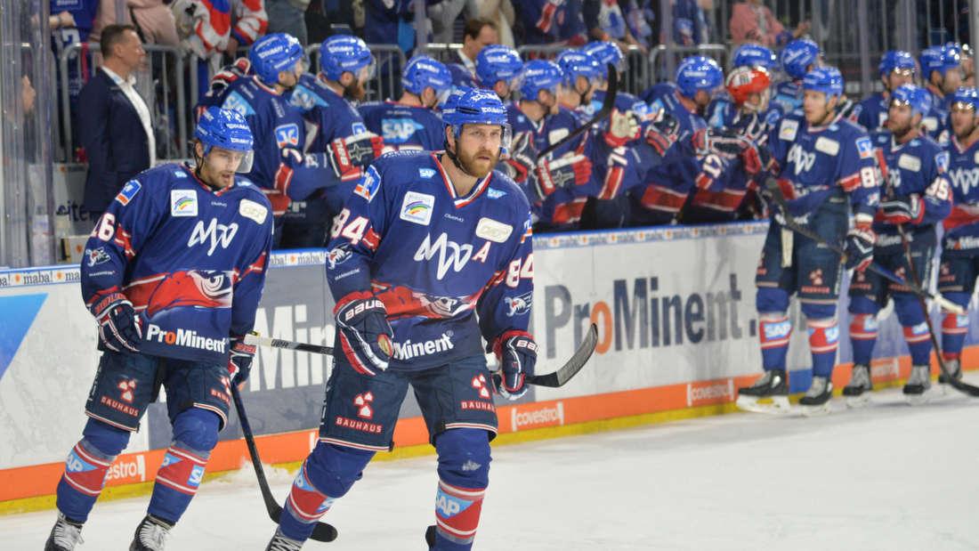 Die Adler Mannheim gewinnen gegen die Kölner Haie.