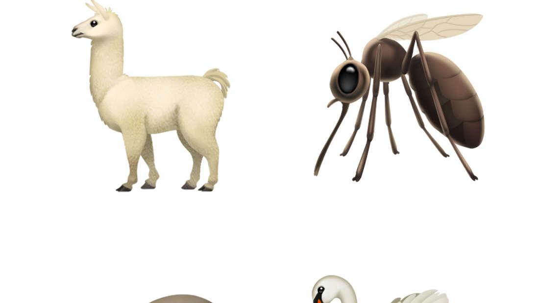 Viele neue Tier-Emojis sind durch das neue iPhone-Update verfügbar...