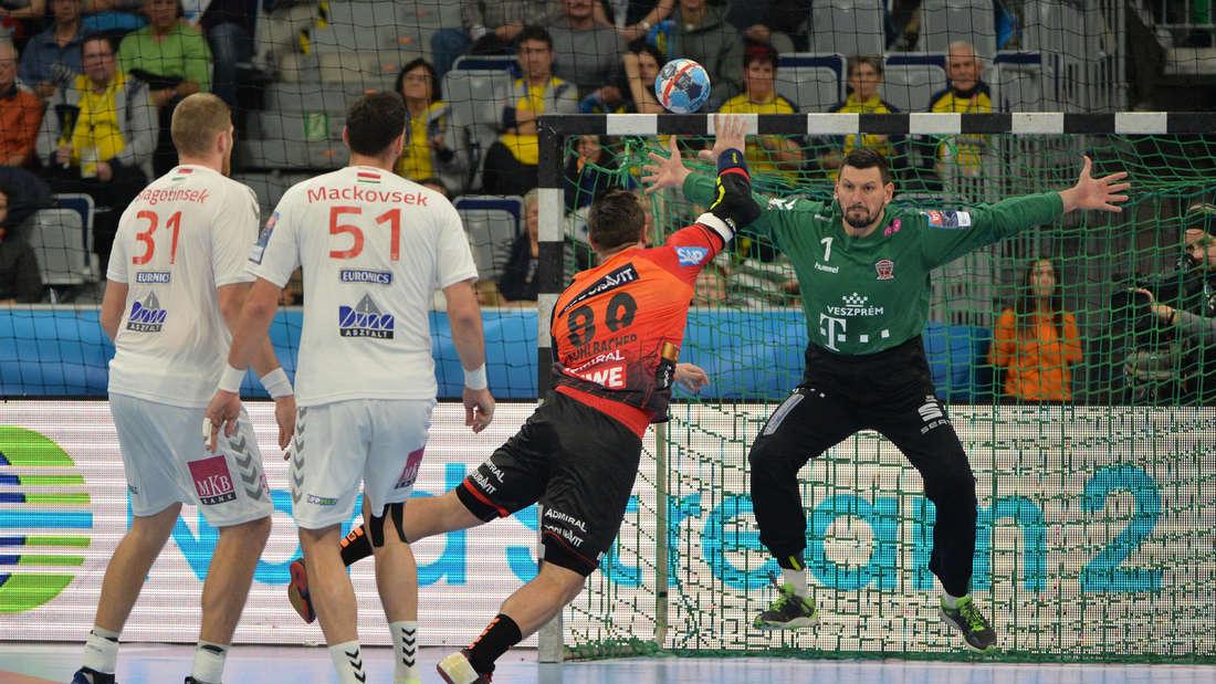 Die Rhein-Neckar Löwen verlieren in der SAP Arena gegen Veszprem.