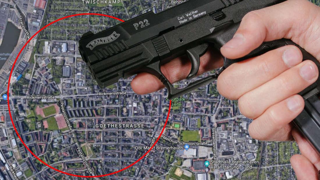 In Bremerhaven hat ein Mann mit einer Waffe gedroht,nm seine Nachbarin zu erschießen.