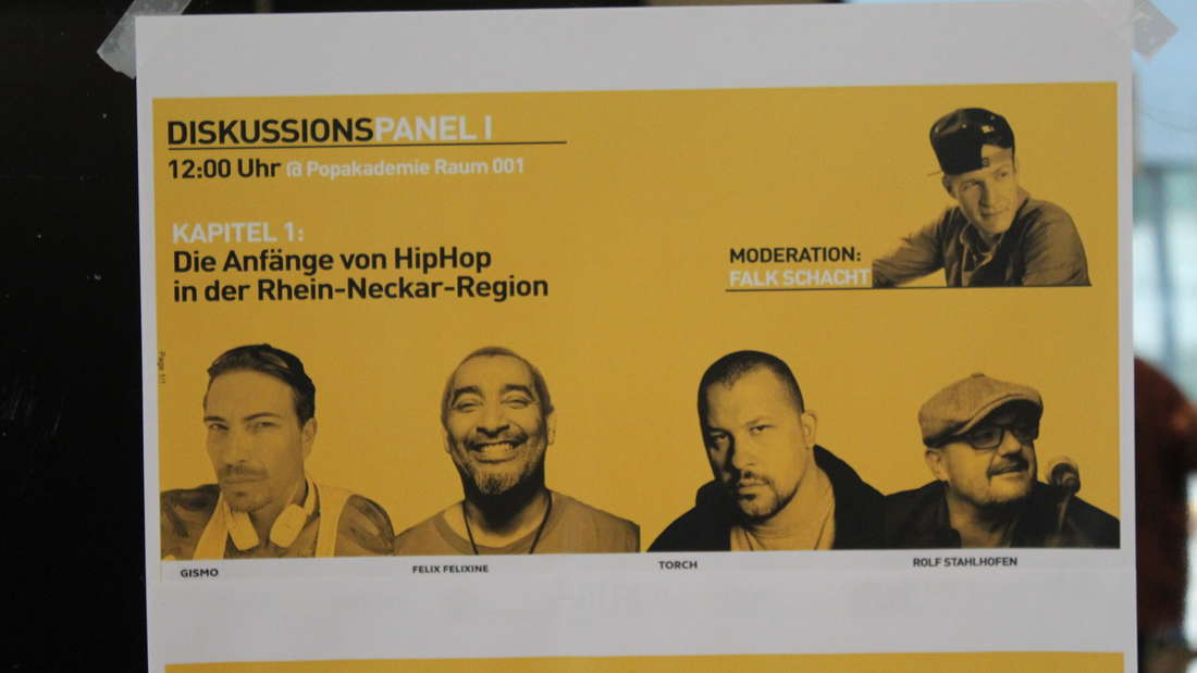 Beim Hip-Hop-Symposium in der Popakademie erzählen mehrere Szenegrößen über die Anfänge in den 80ern.