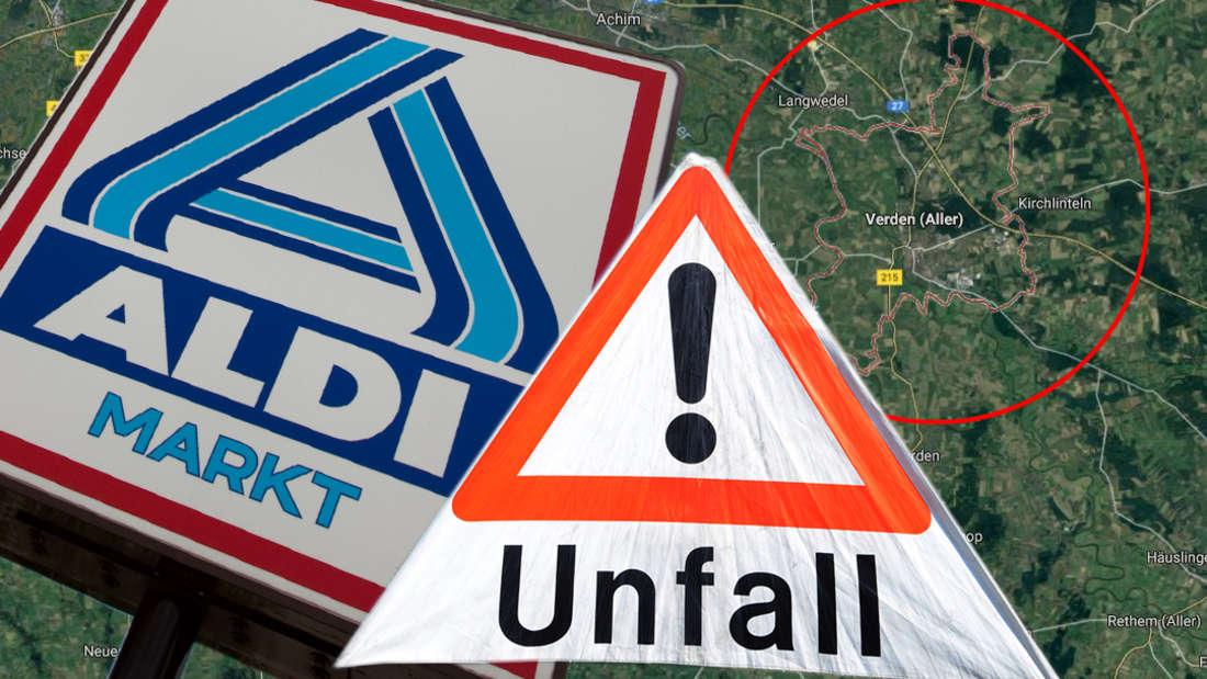 Bremen: Aldi-Parkplatz in Verden wird nach Unfall zu Trümmerfeld