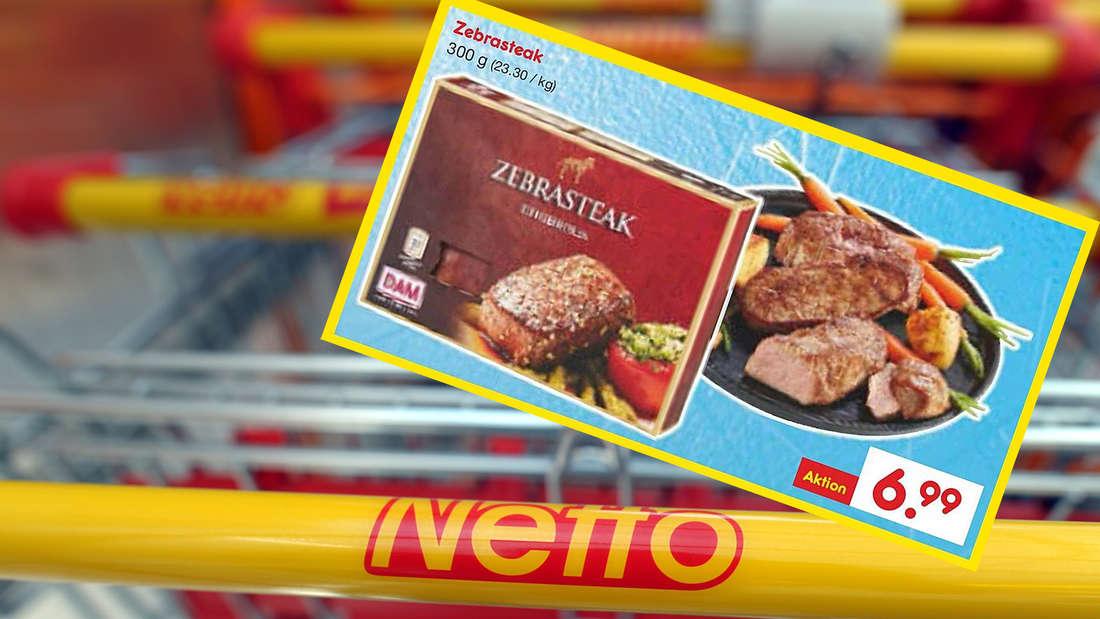 Zebra-Steaks in den Einkaufswagen? Der Discounter Netto sorgt mit seinem Angebot nicht nur für Freude.