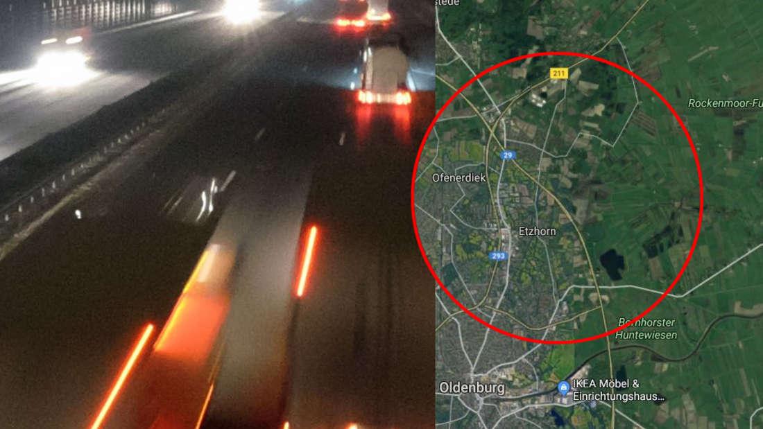 Oldenburg/Wilhelmshaven: Laster verliert Anhänger auf A29 - Unfall mit Audi A4 und Seat Ibiza.