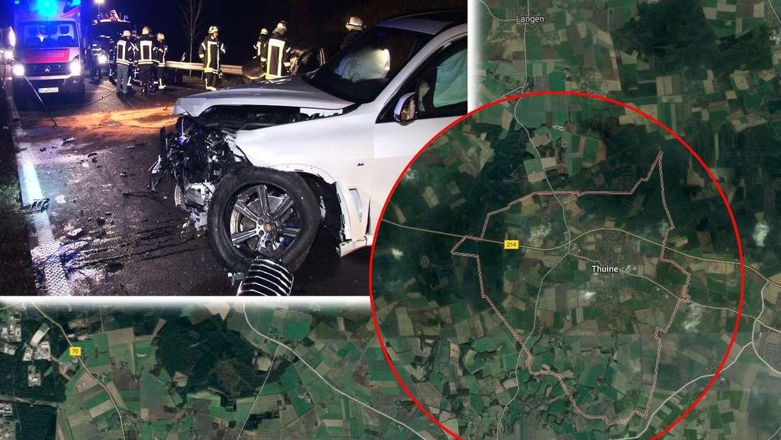 Bei einem folgenschweren Unfall auf der Bundesstraße B214 ist ein Polo-Fahrer ums Leben gekommen. Ein BMW X5 SUV war frontal in den VW gekracht.