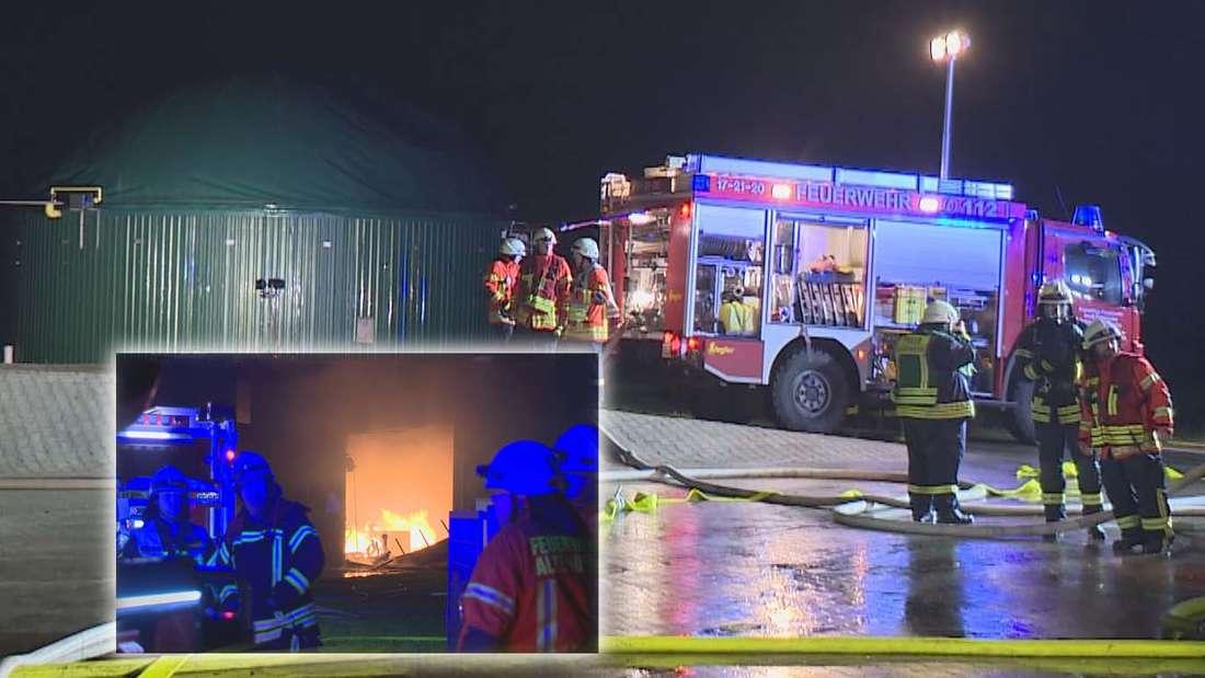 Eine Biogasanlage geriet InFriesoythe bei Oldenburg in Brand. Es war ein höchst gefährlicher Einsatz für die Feuerwehr, da extreme Explosions-Gefahr bestand. Ein Kampf gegen die Zeit.