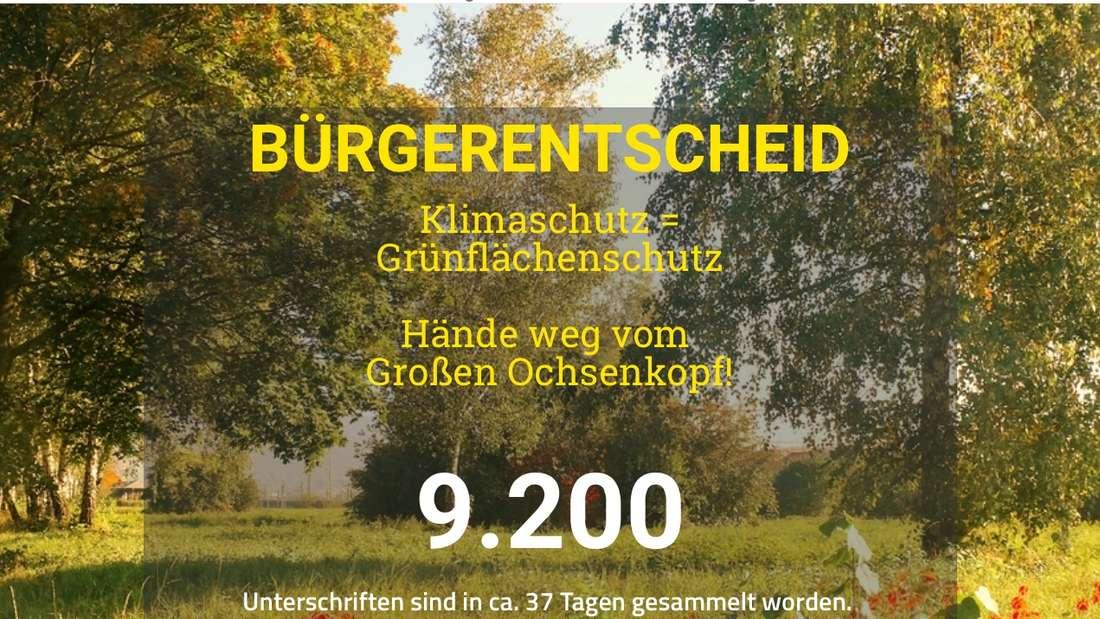 Screenshot, Bürgerbegehren, Erhalt, Ochsenkopfwiese, 8. März 2019