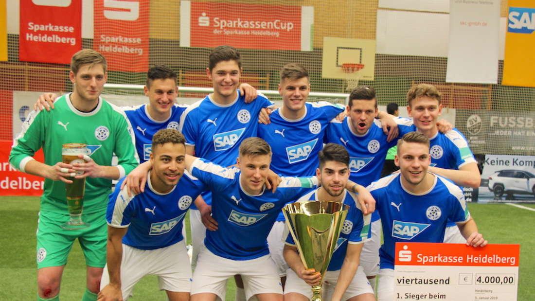 Der FC-Astoria Walldorf gewinnt den SparkassenCup 2019 in Ketsch.