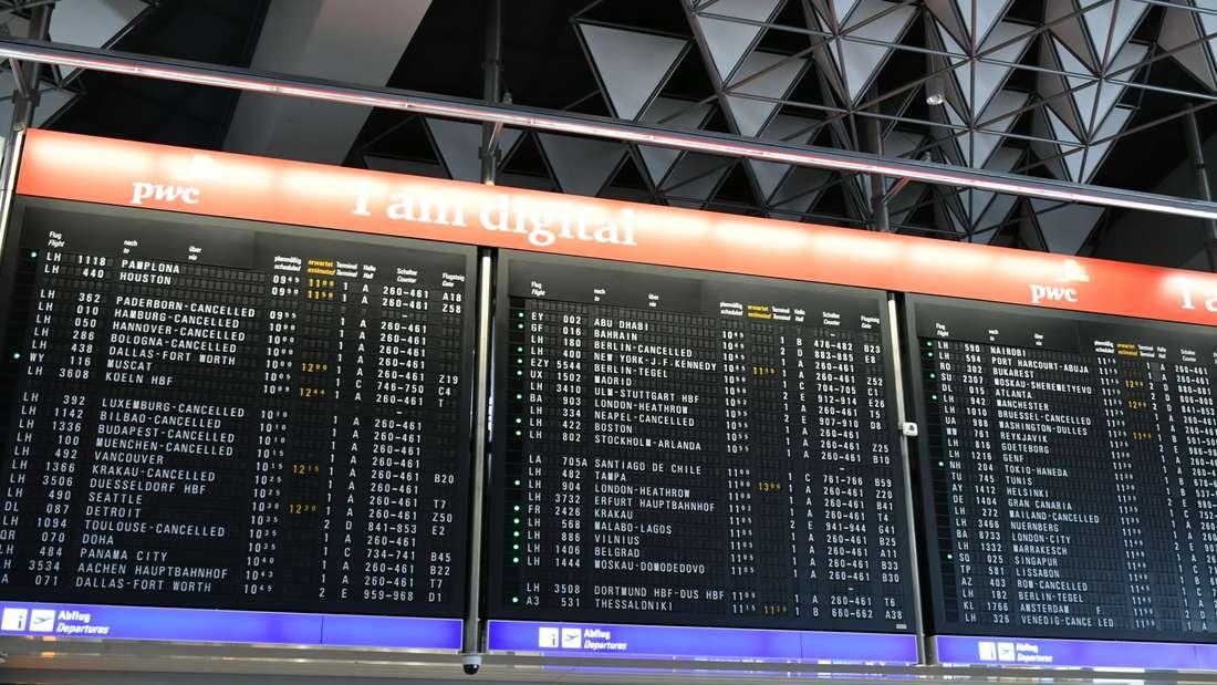 Flugausfälle am Frankfurter Flughafen