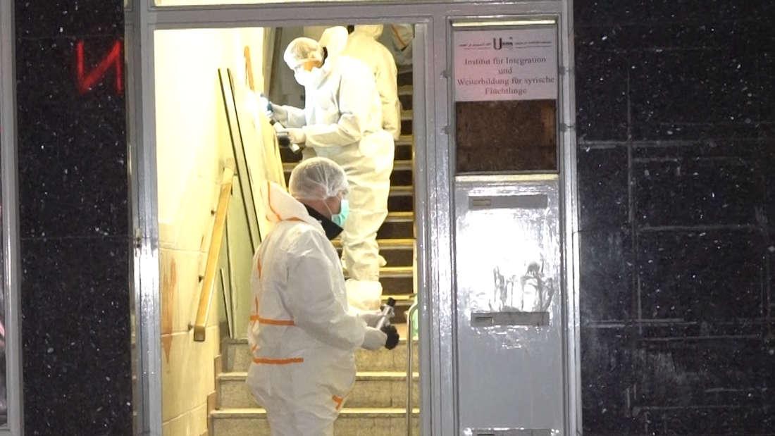 Die Spurensicherung war auch vor Ort in Hamburg-Harburg.