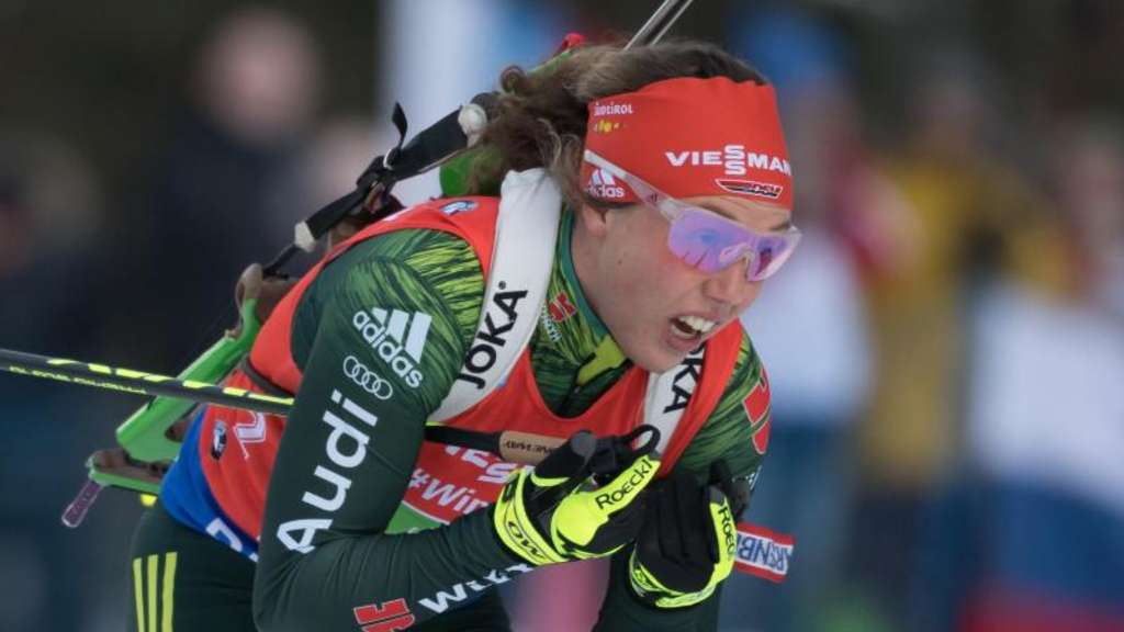 In Antholz gefordert: Laura Dahlmeier. Foto: Sven Hoppe