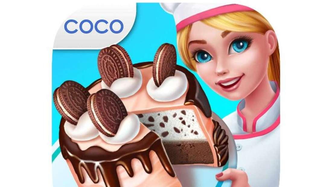 Bei «Mein Bäckereiimperium» eröffnen die Spieler an der Seite von Lizzie Bäckereien, nehmen Bestellungen entgegen und dekorieren leckere Torten. Foto: App Store von Apple