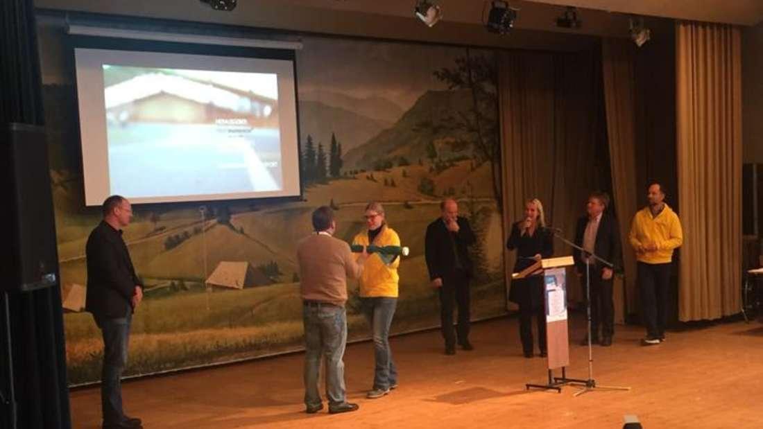 Bürgermeister Lothar Quast bei den Ski-Alpin Meisterschaften der Special Olympics
