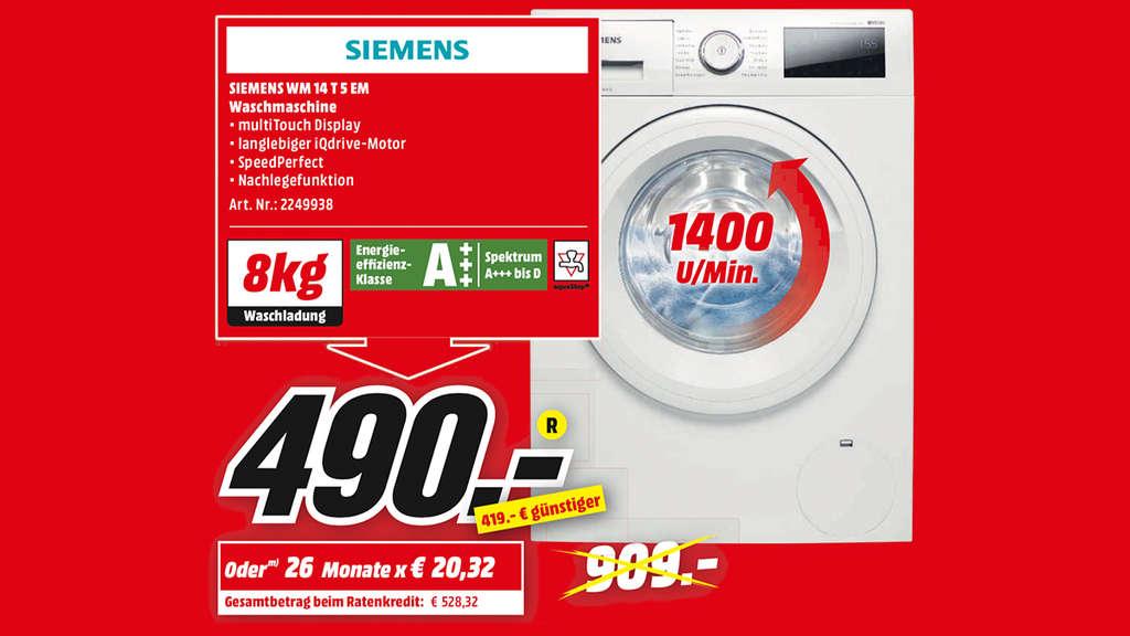 SIEMENS Waschmaschine Fur 490 Euro