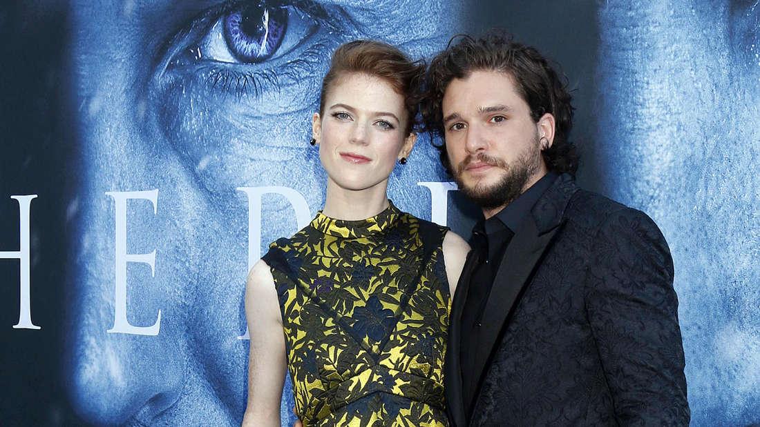 """Lernten sich bei""""Game of Thrones"""" kennen und lieben: Rose Leslie gab Kit Harington im Sommer 2018 das Ja-Wort."""