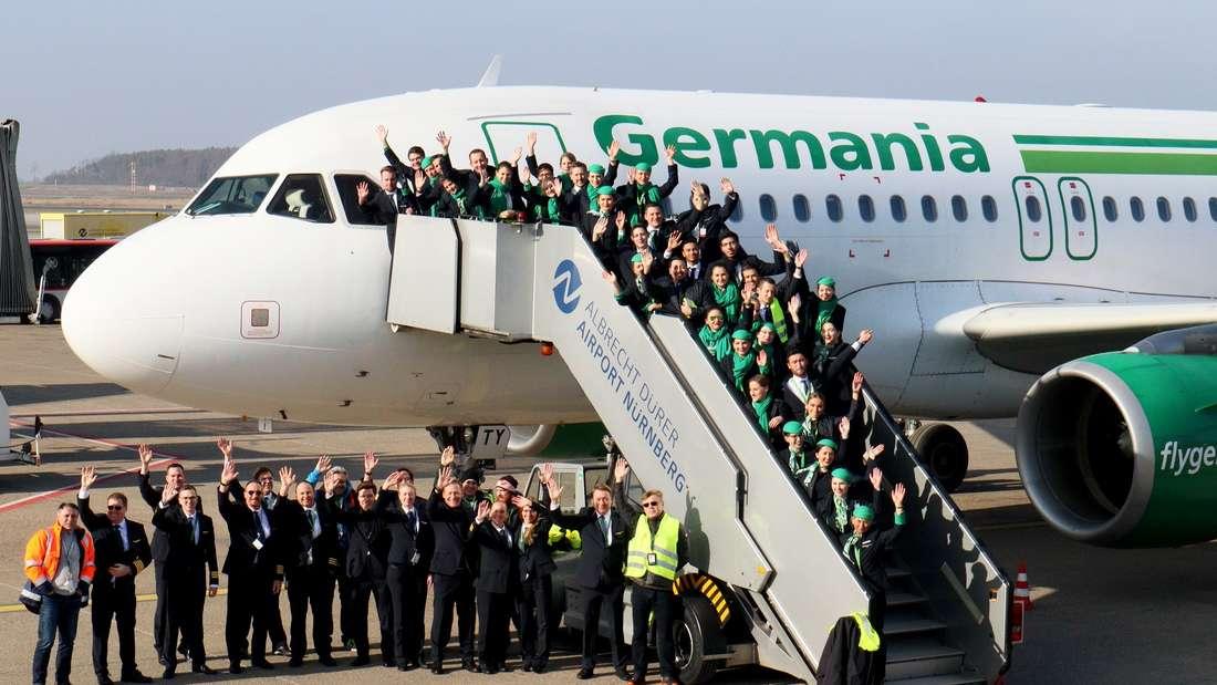 Abschied von Germania - Schock für Kunden: Viele von ihnenbekommen ihre Buchungen nicht erstattet.