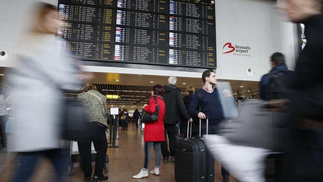 Flüge wegen Streiks in Brüssel gestrichen.