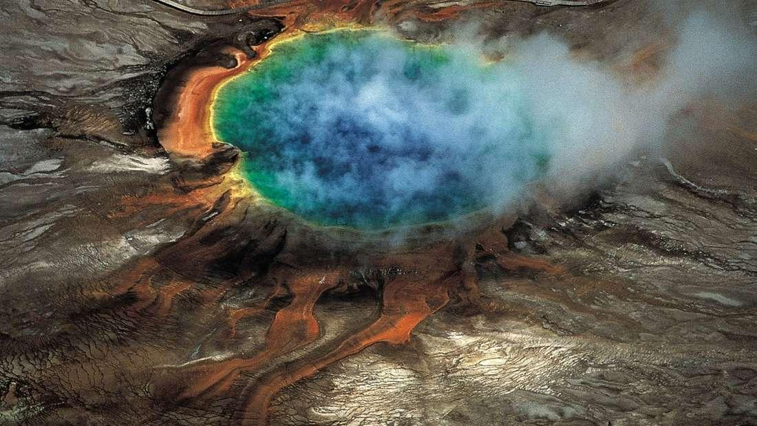 Krater des Yellowstone-Vulkans.