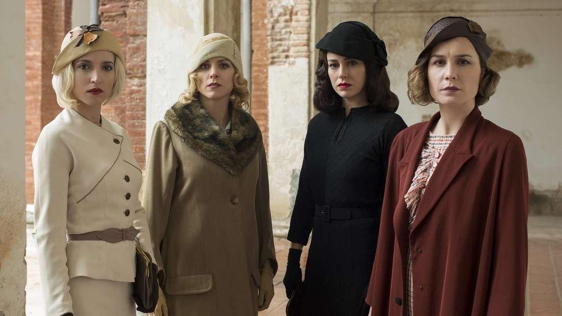 """Platz 4: Im Madrid des Jahres 1928ist der Job als Telefonistin einer der wenigen, der Frauen damals Fortschritt und Modernität brachte. Deshalb gibt es zwischen den vier """"Telefonistinnen"""" in der Netflix-Serie reichlich Zunder."""