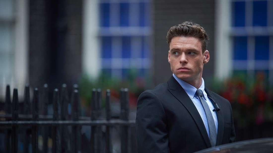 """Platz 3: Als """"Bodyguard"""" ist es David BuddsAufgabe, die britische Innenministerin zu schützen - oder wird er selbst zur größten Bedrohung? Fürseine Hauptrolle erhieltRichard Madden den GoldenGlobe."""