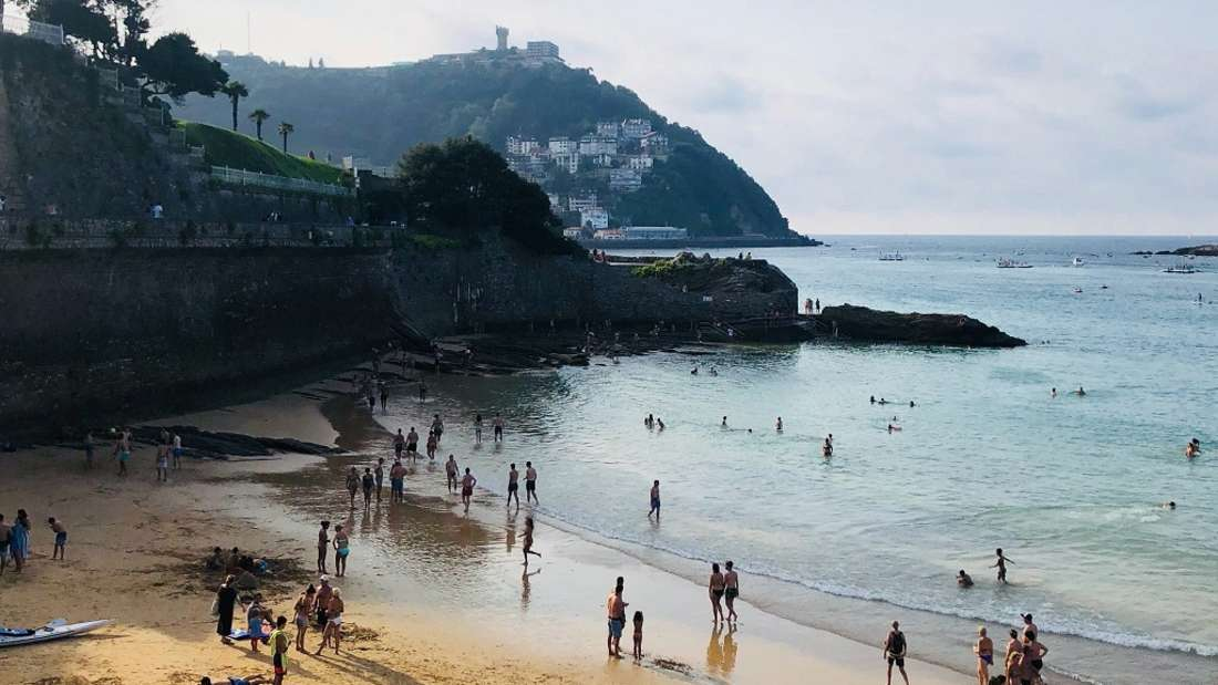 4. La Concha Beach, Spanien