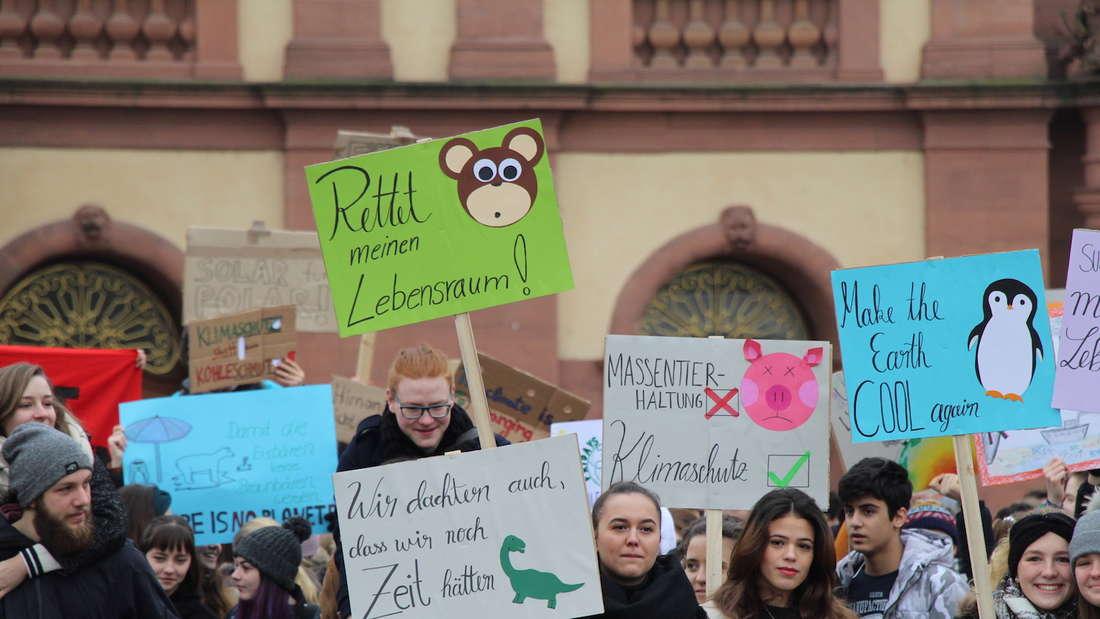 Erste Mannheimer Fridays for Future Demo