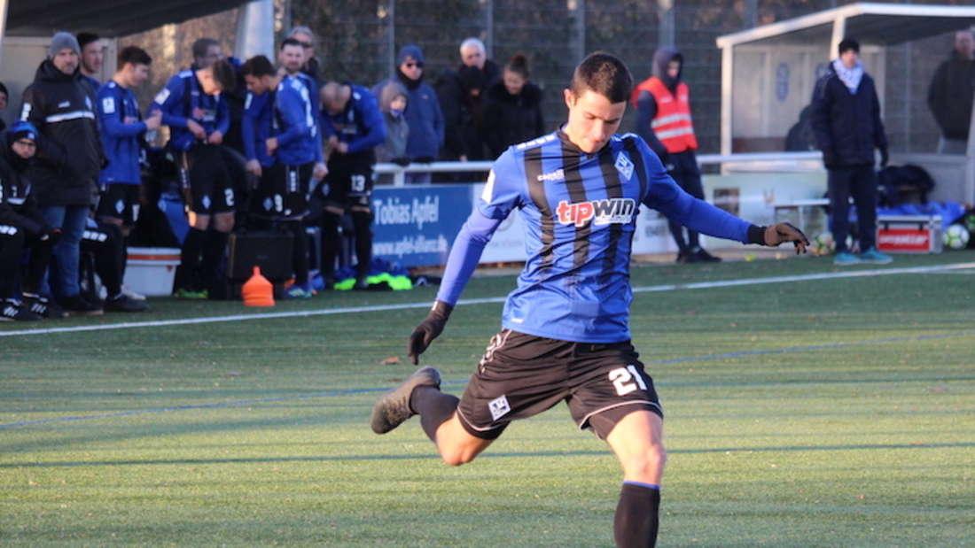 Marco Meyerhöfer und der SV Waldhof Mannheim sichern sich in Freiburg drei Punkte (Archiv).