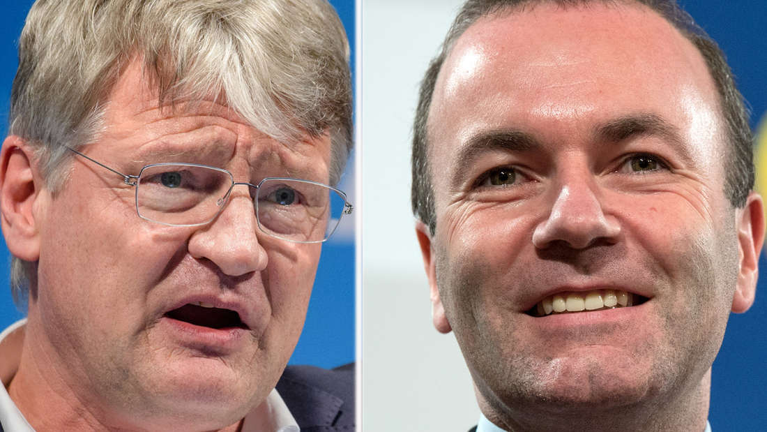 Jörg Meuthen (links) ist der Spitzenkandidat der AfD für die Europawahl 2019, Manfred Weber ist der Spitzenkandidat der CSU.