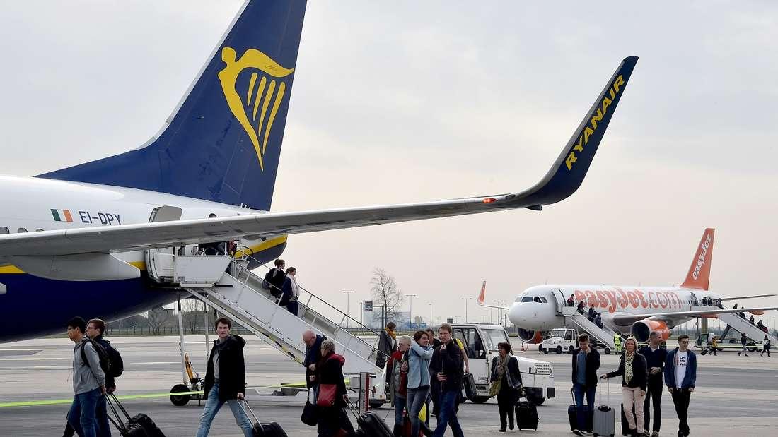In einer Ryanair-Maschine kam es zu einer handfesten Auseinandersetzung. (Symbolbild)