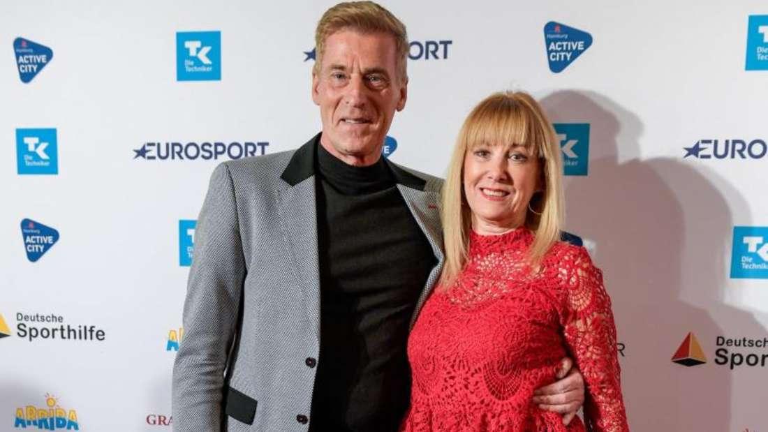 Uli Stein und seine Frau Cornelia bei der Verleihung des Deutschen Sportjournalisten-Preises. Foto: Axel Heimken