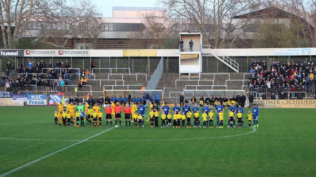 bfv-Rothaus-Pokal zwischen dem VfB Gartenstadt und dem Karlsruher SC im Rhein-Neckar-Stadion