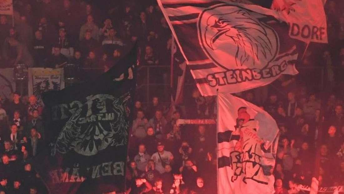 Während der Partie gegen Inter Mailand hatten Eintracht-Fans Pyrotechnik gezündet. Foto: Arne Dedert