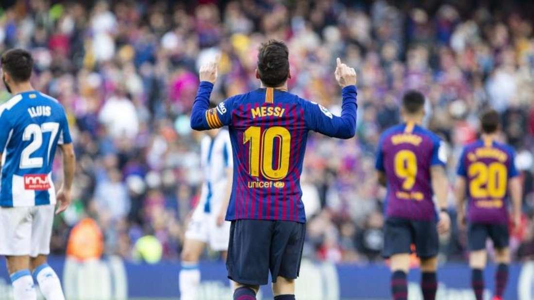 Sorgte im Alleingang für den Sieg im Stadtderby: Barça-Star Lionel Messi. Foto: Mikel Trigueros/Gtres/dpa