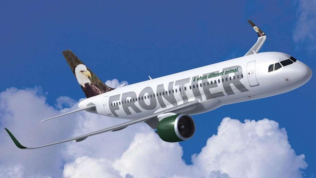 Der Vorfall trug sich in einer Maschine der Frontier Airlines zu. (Symbolbild)
