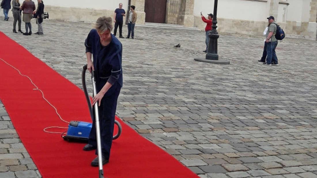 Vorbereitungen in Zagreb für das Treffen von Merkel, Weber und Plenkovic.