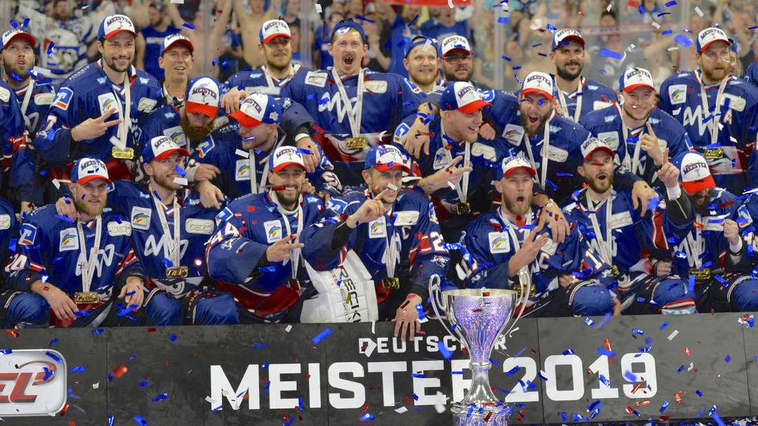 Die Adler Mannheim sind DEL-Meister 2019.