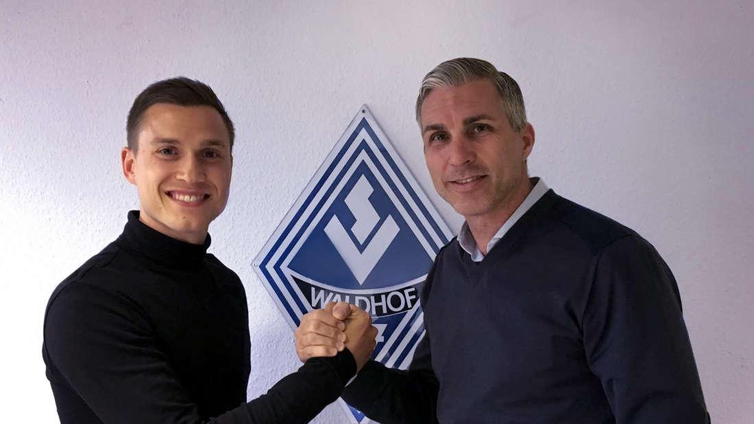 Gianluca Korte (li.) verlängert beim SV Waldhof.