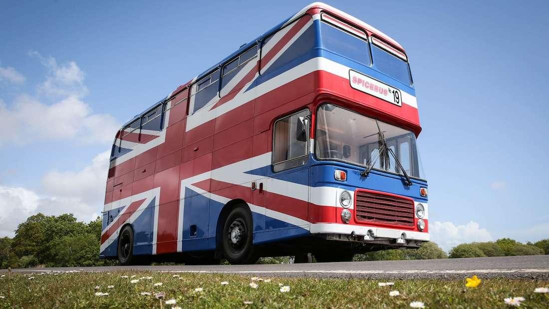 Der originale Spice-Girls-Bus kann gemietet werden.