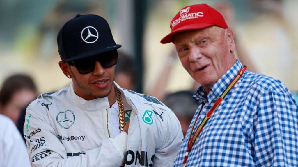 Lewis Hamilton (l) und Niki Lauda arbeiteten bei Mercedes eng zusammen. Foto: David Davies/Press Association Images
