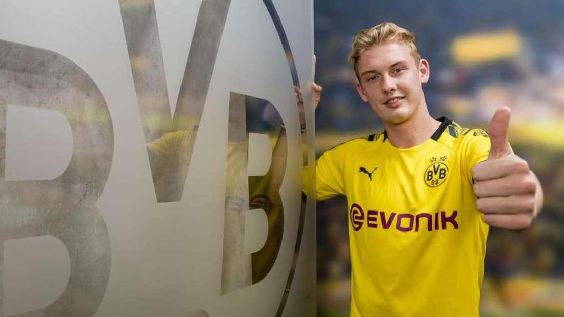 Julian Brandt posiert im BVB-Trikot. Foto: Alexandre Simoes/BVB/Borussia Dortmund GmbH & Co