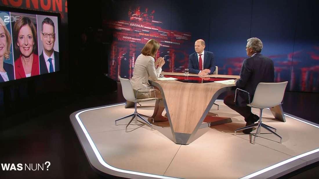 """""""Was nun, Herr Scholz?"""" im ZDF."""