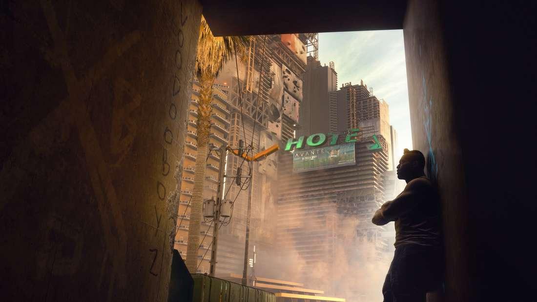 """Aber man muss ja nicht immer kämpfen. In """"Cyberpunk 2077"""" sollte man sich genug Zeit nehmen, um die schönen Seiten von Night City zu entdecken."""