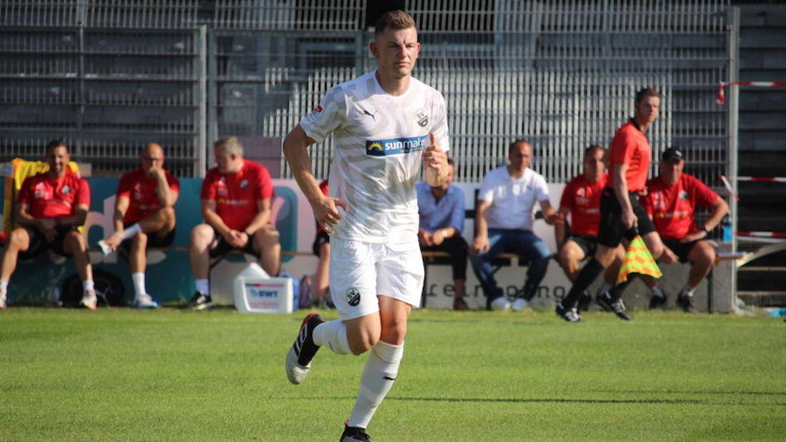 U23-Spieler Roman Hauk kann beim Testspiel gegen Astoria Walldorf überzeugen.
