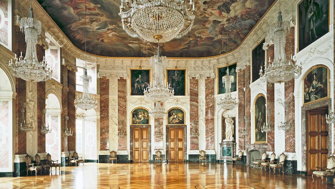 Barockschloss Mannheim: Die gute Stube, der Rittersaal