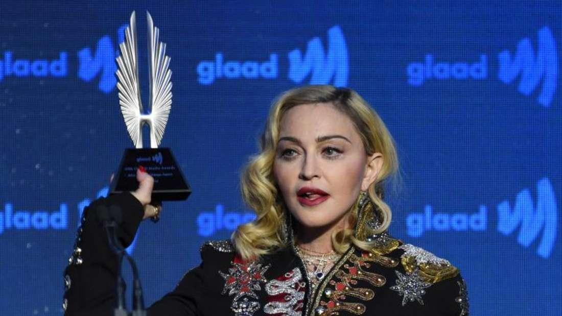 Madonna bei den Advocate for Change Awards in New York. Foto: Evan Agostini