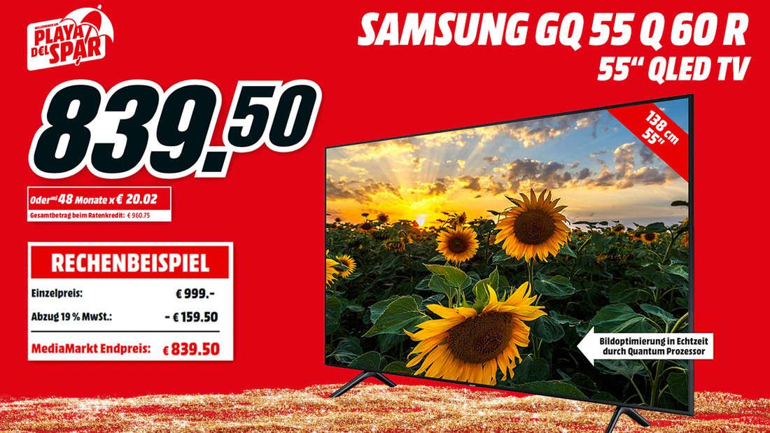 Beim Kauf des SAMSUNG TV 55 Zoll mit 4K-Ultra-HD sparst Du über 150.-Euro.