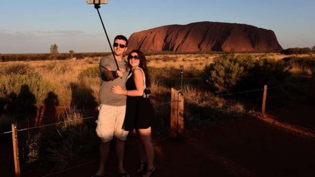 Ende Oktober wird der Uluru für Touristen geschlossen. Der Aufstieg ist zu gefährlich.