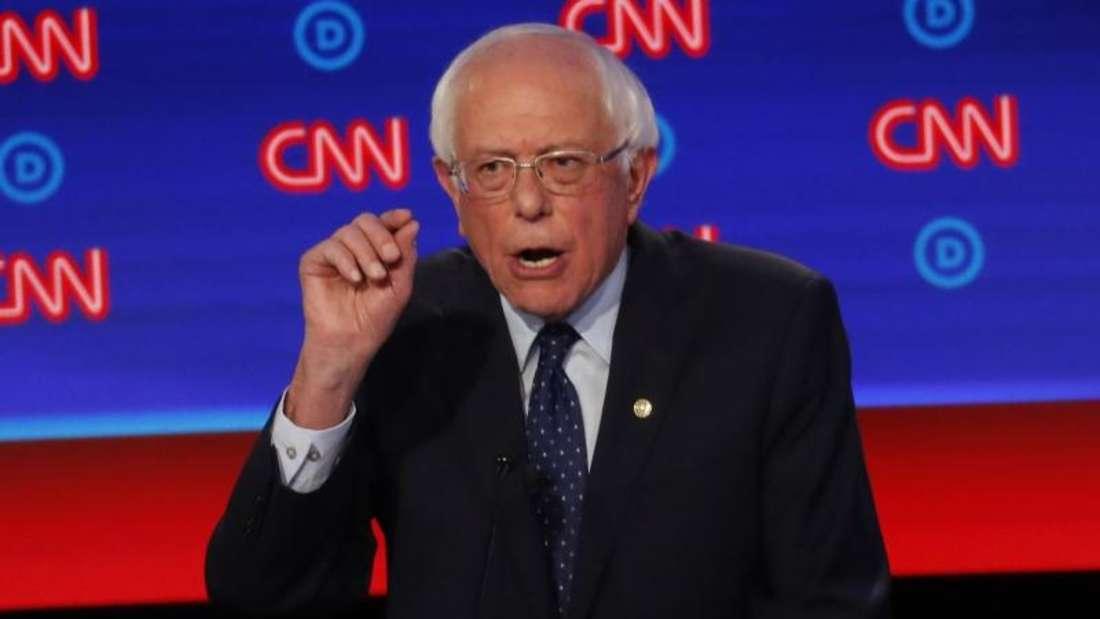 Gab sich kämpferisch: der linke Senator Bernie Sanders. Foto: Paul Sancya/AP