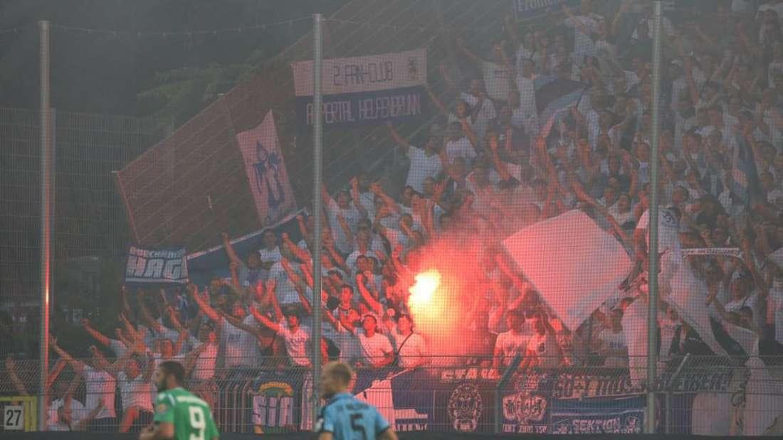 Pyrotechnik im München-Fanblock